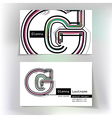 Business card design with letter G vector image vector image