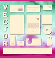 business cards collection for concept design vector image vector image