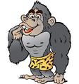 Cartoon of a Strong Gorilla vector image vector image
