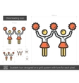 Cheerleading line icon vector image vector image