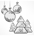 Christmas ornament ball tree vector image vector image