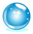 christmas star globe vector image