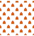 Circus tent pattern cartoon style vector image vector image