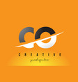 co c o letter modern logo design with yellow vector image vector image