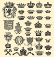 coats of arms and crowns vector image