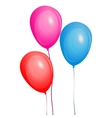 Color glossy balloons set vector image
