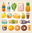 Colorful products icons vector image vector image