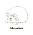 Coloring book forest animal hedgehog cartoon vector image vector image