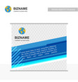 company brochure design with light background vector image