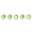 Contact us buttons - set vector image