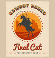 cowboy rodeo poster vector image vector image