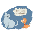 cute cartoon dog and cat vector image