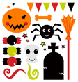 Cute design elements for Halloween vector image