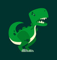 cute dinosaur mascot character with open mouth vector image vector image
