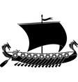drakkar viking vector image vector image