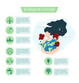 ecological concept icon set infographics vector image