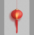festive chinese red lantern template vector image