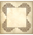 flower frame design on grunge background vector image vector image