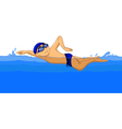 Freestyle Swimmer cartoon vector image vector image