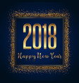 glittery happy new year background vector image vector image