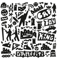 graffiti spray paint doodles vector image