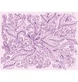 hand painted floral design vector image vector image