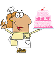Hispanic Cartoon Cake Baker Woman vector image vector image