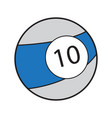isolated billiard ball vector image