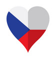 isolated flag of czech republic on a heart shape vector image