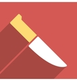 Knife Flat Longshadow Square Icon vector image vector image