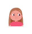 little girl cute is angry spite emotion child vector image