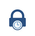 lock password private protection secure time icon vector image vector image