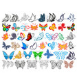 logo set with butterflies vector image vector image