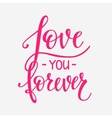 Love Valentines Day quote typography vector image vector image