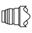 modern camera lens icon outline style vector image vector image