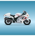 motorcycle on blue background vector image vector image