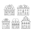 Old hand drawing houses isolated vector | Price: 1 Credit (USD $1)