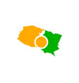 orange county california map vector image