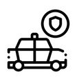 police car machine icon outline vector image vector image