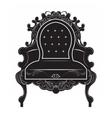 Rich Baroque armchair vector image vector image