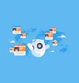robot chatbot online messenger global people vector image vector image