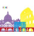 Rome skyline pop vector image vector image