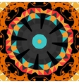 Round mandala line pattern colorful frame for text vector image vector image