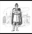 russian prince tsar warrior vector image vector image