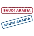 Saudi Arabia Rubber Stamps vector image vector image