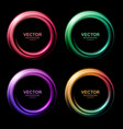 set colorful blurry swirl circle banners vector image