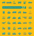 set of transport icons vector image vector image