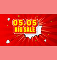 shopping day 0505 global big sale year vector image vector image