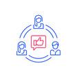 social media influence refer a friend program vector image vector image
