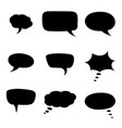 speech bubbles black silhouette icons vector image vector image